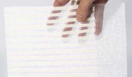 """Tissu """"Sieste H"""" pour panneaux japonais transparents : échantillon blanc"""