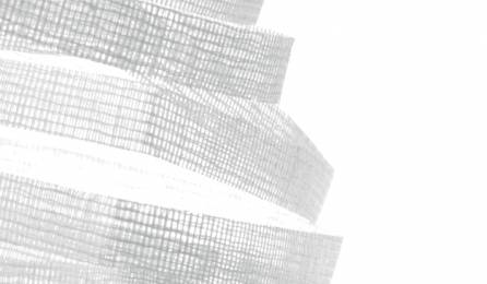 """Souffle"" trompe l'oeil sliding panel fabric : pattern 1"